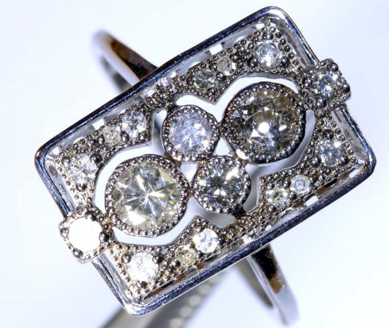 11.80CTS ART DECO DIAMOND  CLUSTER RING SG-2817