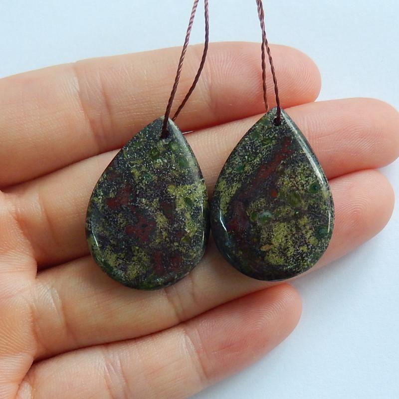 41.9cts Dragon blood earrings ,gemstone earrings ,healing stone (A844)