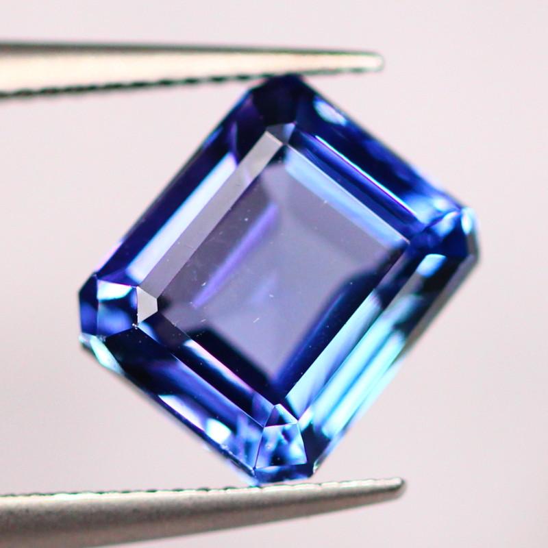 IGI Certified 2.46Ct Violet Blue Tanzanite Emerald Cut Lot LZB403