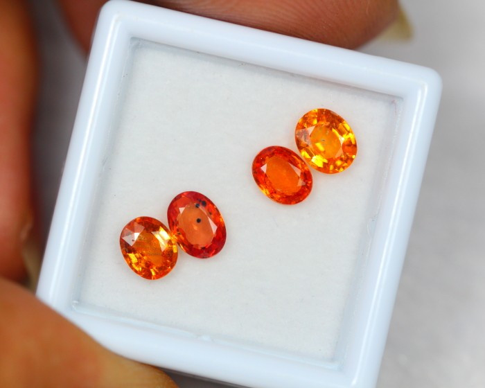 2.52Ct Natural Songea Orange Sapphire Oval Cut Lot Z22