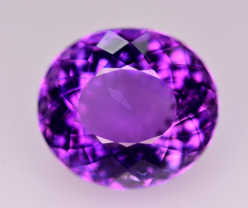 Brilliant Color 14.30 Ct Natural Amethyst From Uruguay