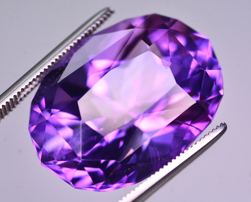22.70  Ct Amazing Color Natural Amethyst ~ Uruguay AM1