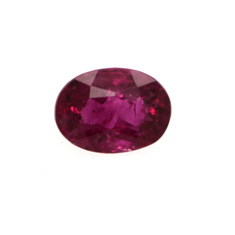 0.11cts Natural Red Tourmaline Oval Cut