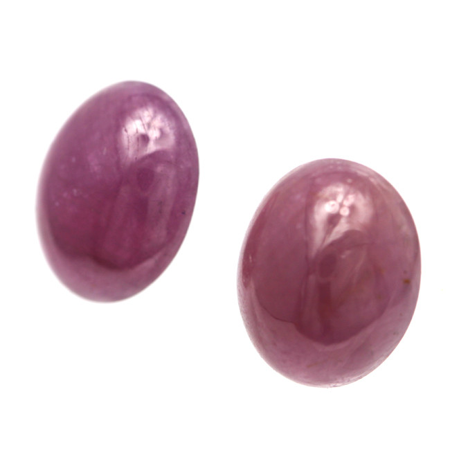 9.99cts Natural Ruby Matching Oval Cabochon Shape