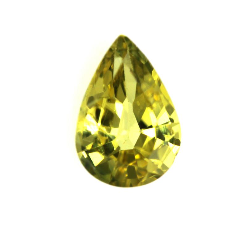 0.50cts Natural Australian Yellow Sapphire Pear Shape