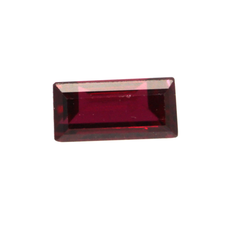 0.40cts Natural Ruby Baguette Shape