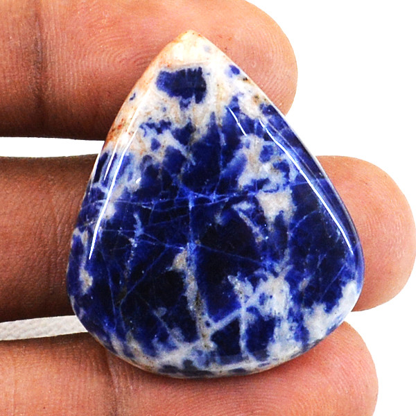 Genuine 33.00 Cts Pear Shape Sodalite Untreated Cabochon