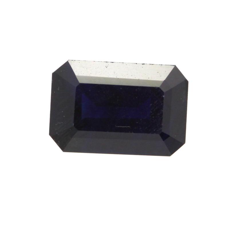 0.84cts Natural Australian Blue Sapphire Emerald Cut