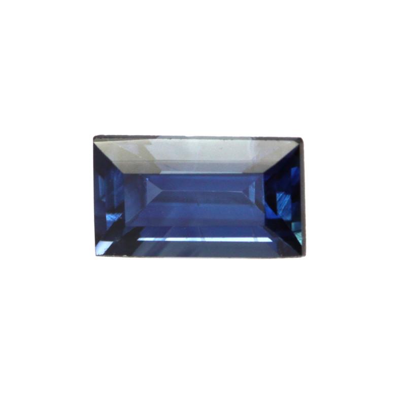 0.58cts Natural Australian Blue Sapphire Baguette Cut