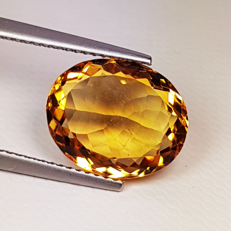 "5.98 cts ""AAA Quality Gem"" Wonderful Oval Cut Natural Citrine"