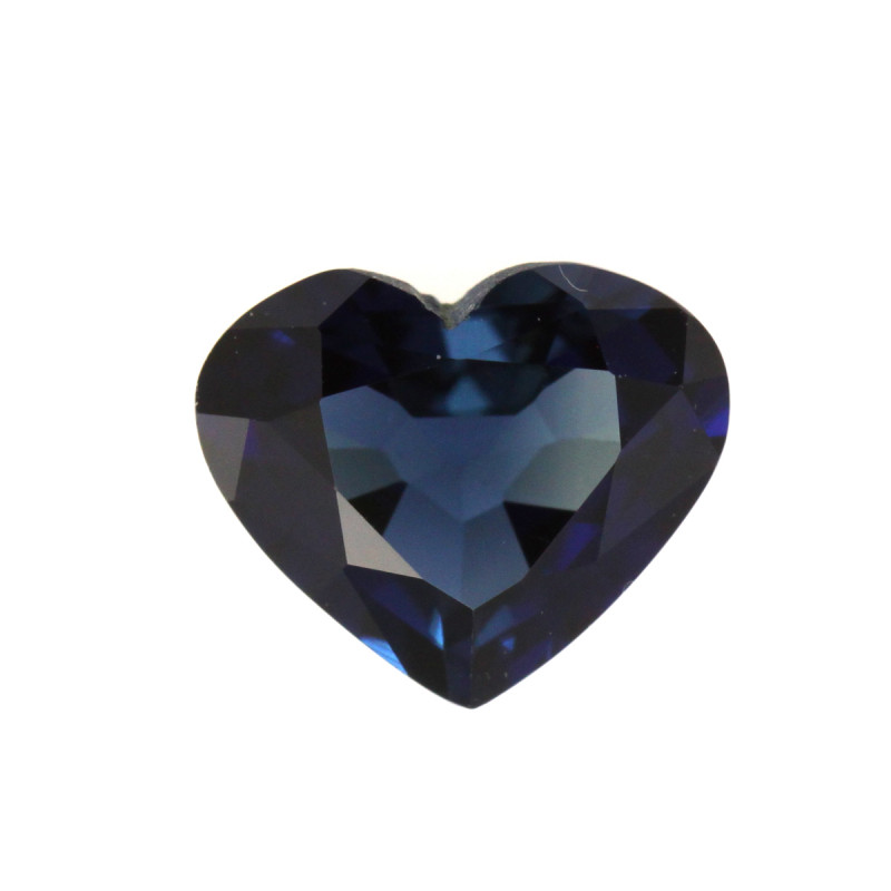 0.83cts Natural Australian Blue Sapphire Heart Cut