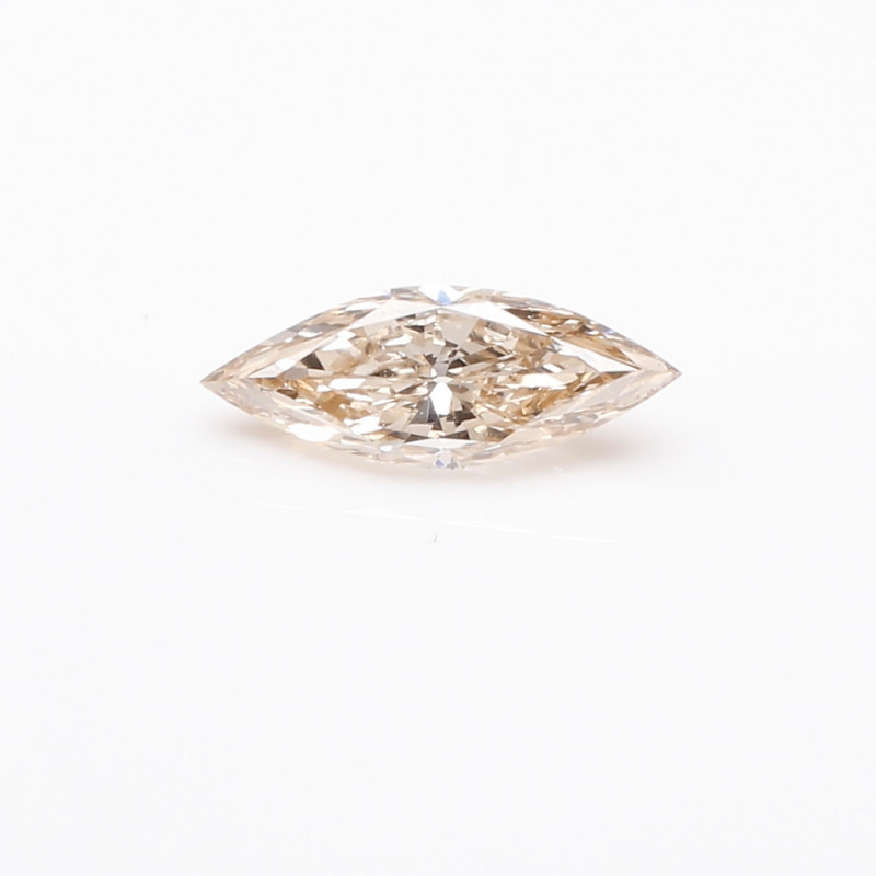 0.52ct  Fancy yellowish Brown Diamond Marquise HRD certified