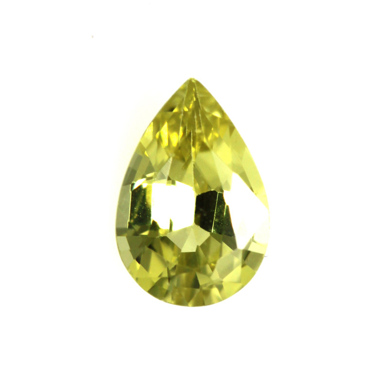 0.53cts Natural Australian Yellow Sapphire Pear Cut