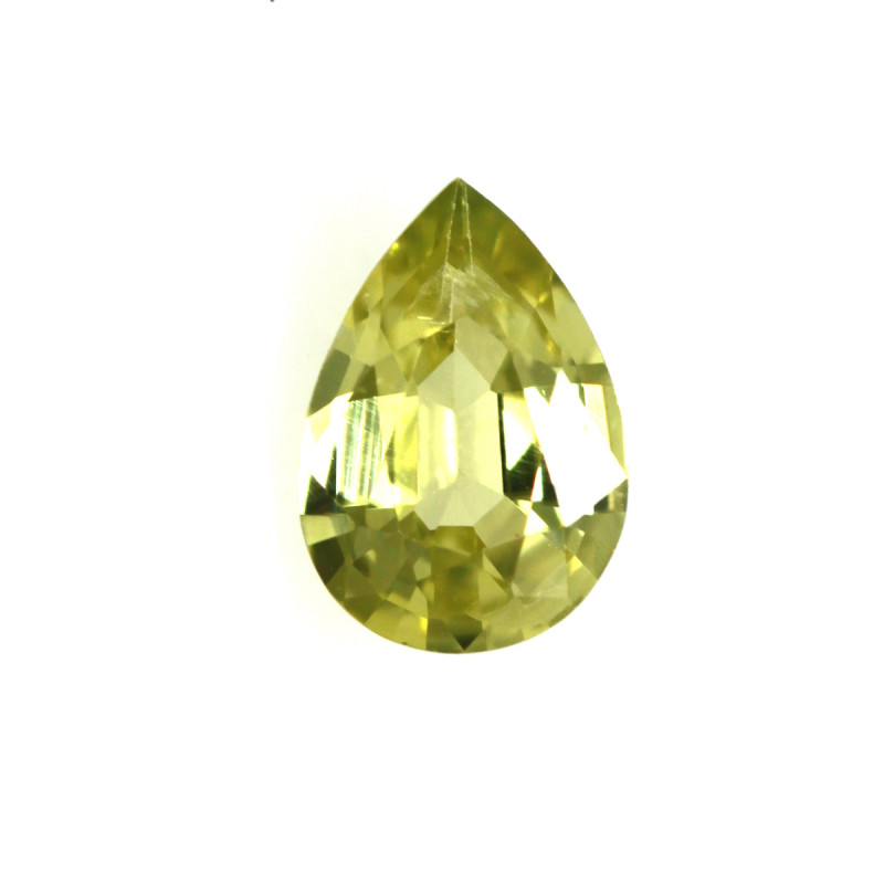 0.39cts Natural Australian Yellow Sapphire Pear Cut