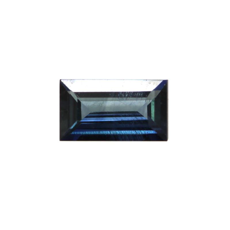 0.47cts Natural Australian Blue Sapphire Baguette Cut