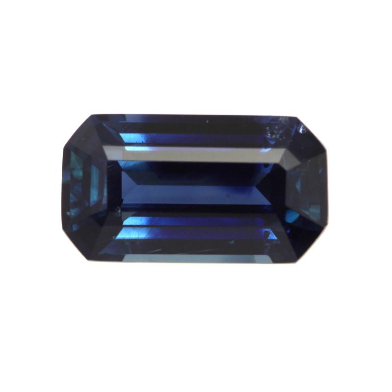 3.02cts Natural Australian Blue Sapphire Emerald Cut