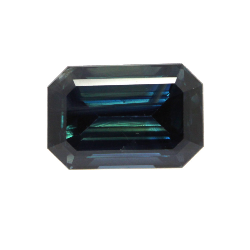 3.00cts Natural Australian Blue Sapphire Emerald Cut