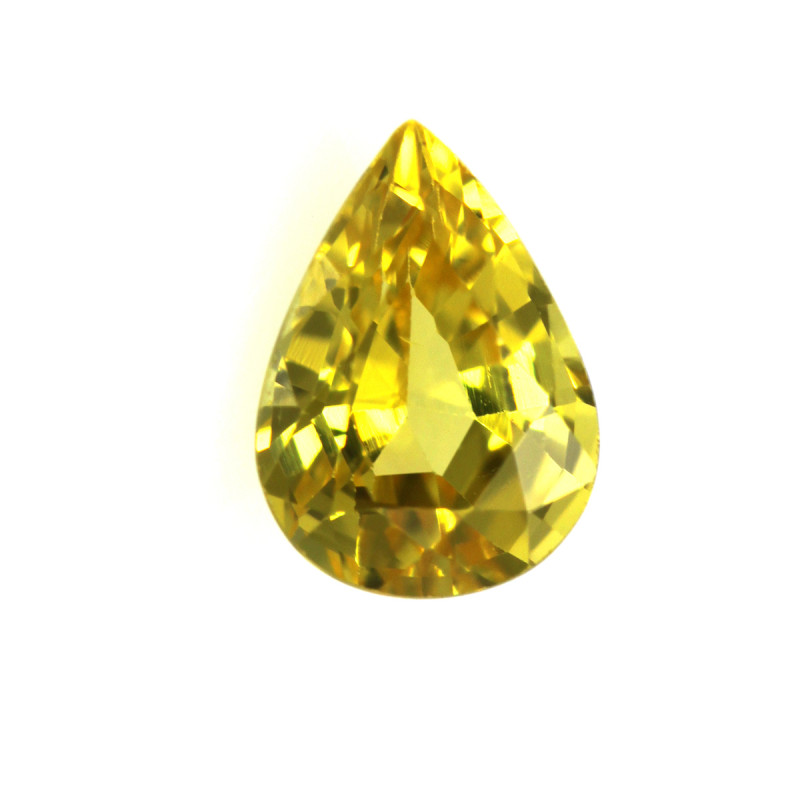 0.69cts Natural Australian Yellow Sapphire Pear Cut