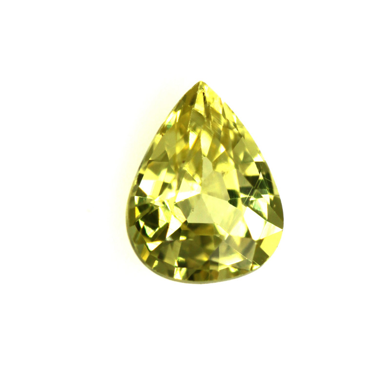 0.55cts Natural Australian Yellow Sapphire Pear Cut
