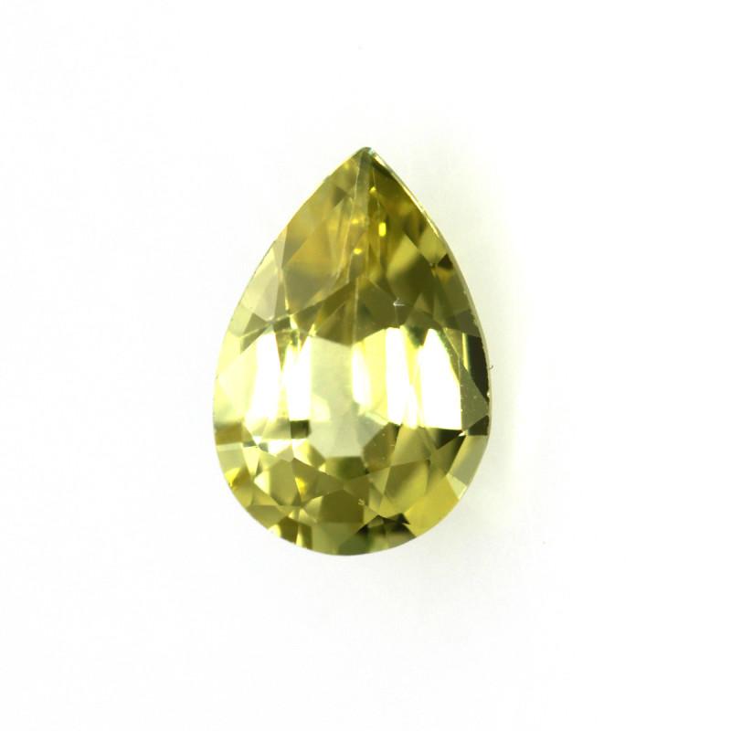 0.61cts Natural Australian Yellow Sapphire Pear Cut