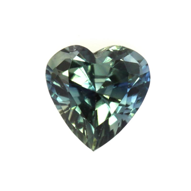 0.77cts Natural Australian Greenish/Blue Sapphire  Cut