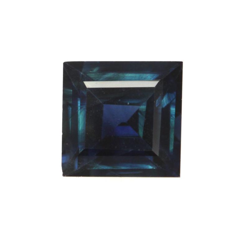 0.69cts Natural Australian Blue Sapphire Square Cut