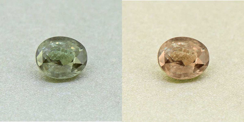 UNTREATED - GREEN GROSSULAR GARNET / Colour Change