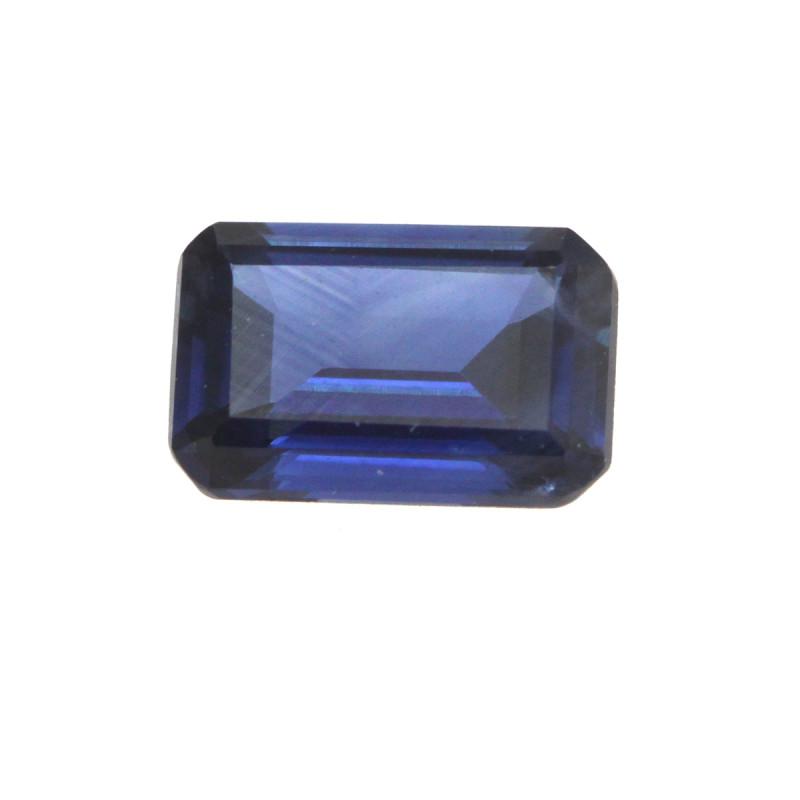 0.55cts Natural Australian Blue Sapphire Emerald Cut