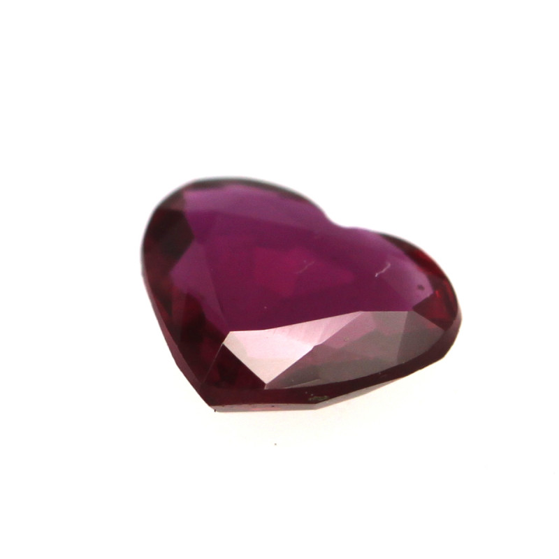 0.27cts Natural Ruby Heart Shape