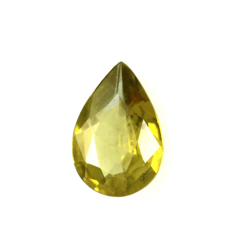 0.27cts Natural Australian Yellow Sapphire Pear Cut
