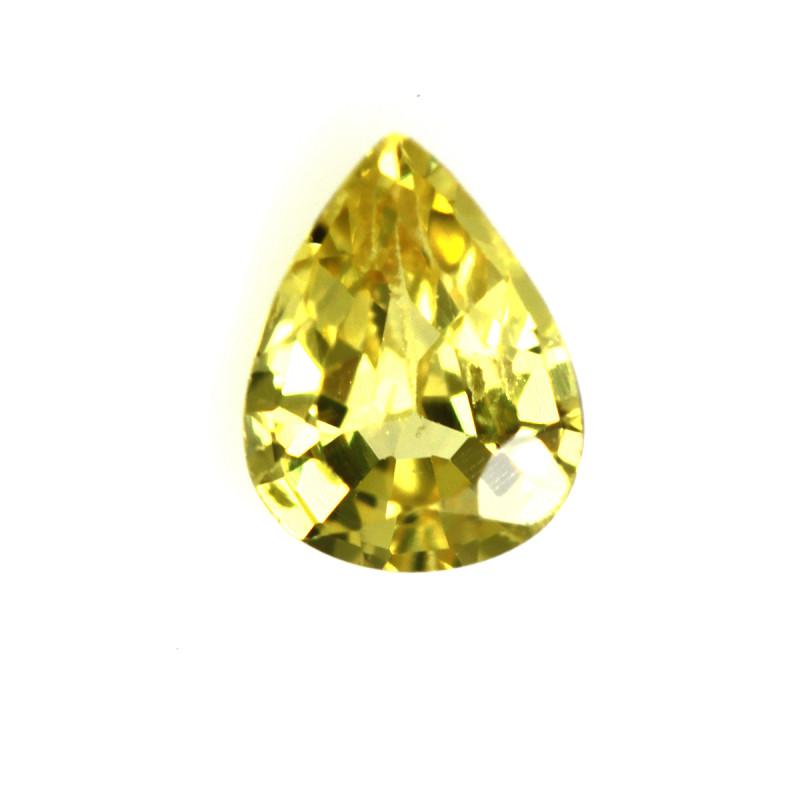 0.36cts Natural Australian Yellow Sapphire Pear Cut