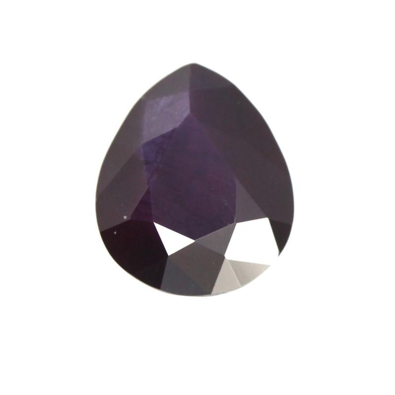 1.25cts Natural Songea Deep Purple Sapphire Pear Cut