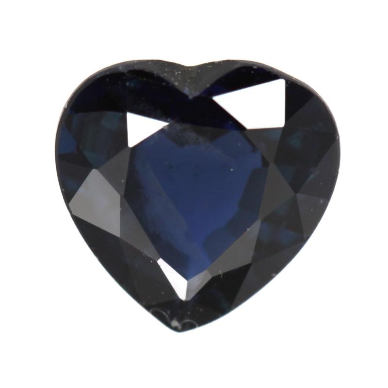 0.94cts Natural Australian Blue Sapphire Heart Shape