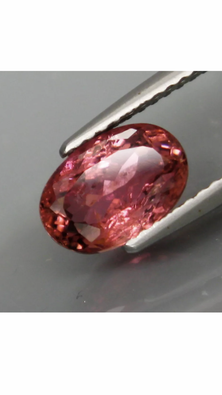 GGA-1.65 ct RUBELLITE RAVISHING COLOR FULL FIRE Rubellite . FROM COLLECTOR.