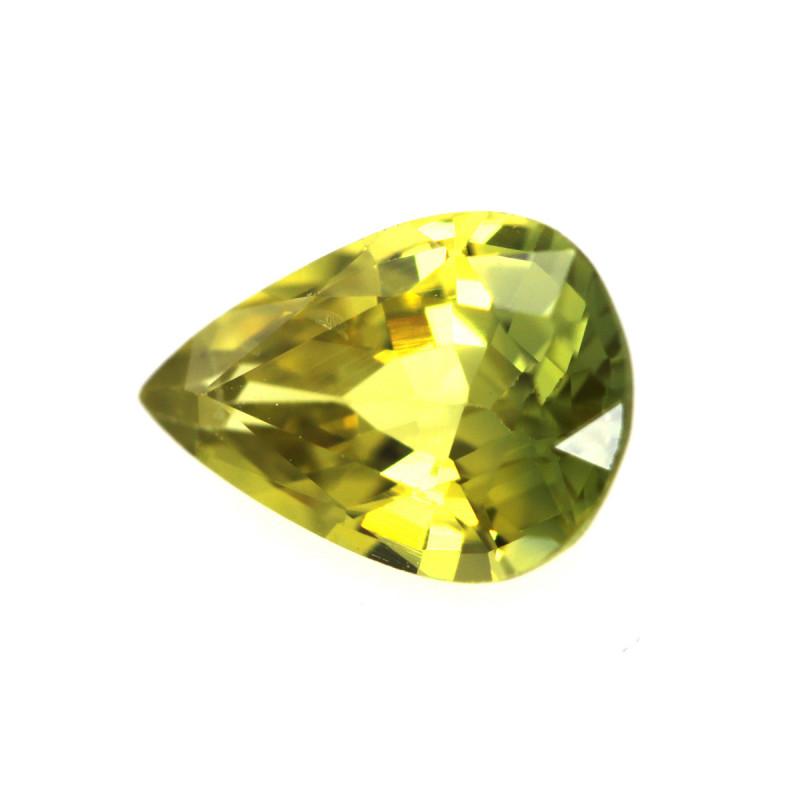 0.82cts Natural Australian Yellow Sapphire Pear Shape