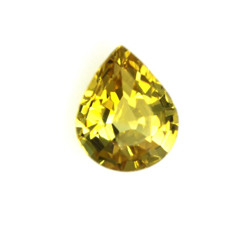 0.46cts Natural Australian Yellow Sapphire Pear Shape