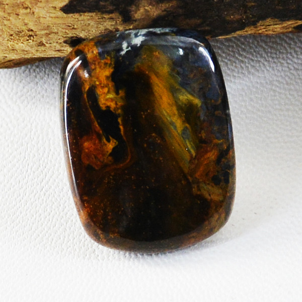 Genuine 25.00 Cts Iron Tiger Eye Untreated Cabochon