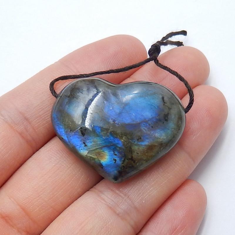 64cts LABRADORITE Heart -Labradorite Stone, Healing Gemstone Heart(A789)