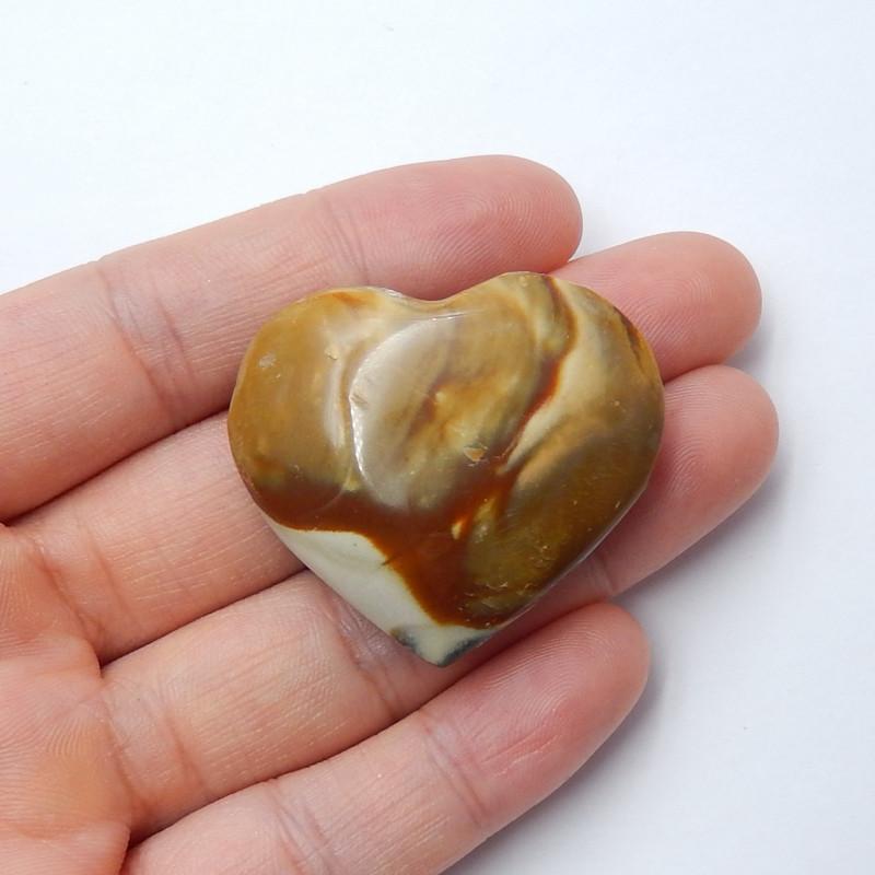 89.5cts Ocean jasper Heart , Healing Gemstone Heart side drill(A792)