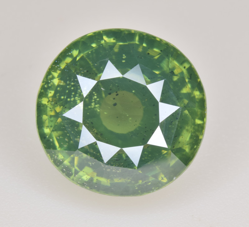 Natural Zircon 11.34 Cts Rare Green Color