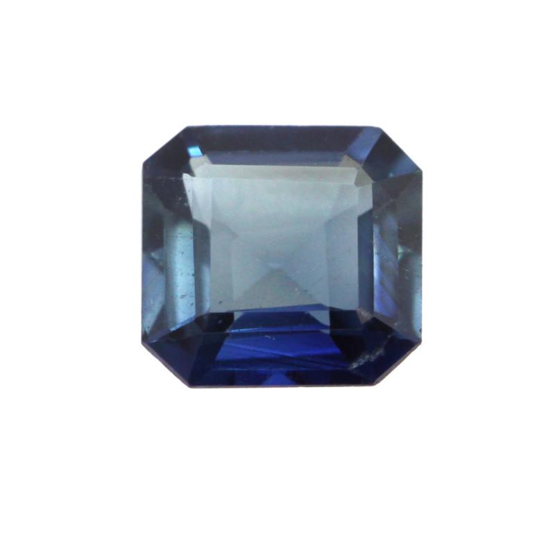 cts Natural Australian Blue Sapphire Square Emerald Cut