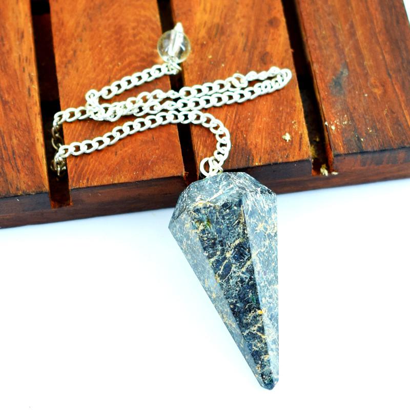 Genuine 105.00 Cts Jasper Healing Point Pendulum