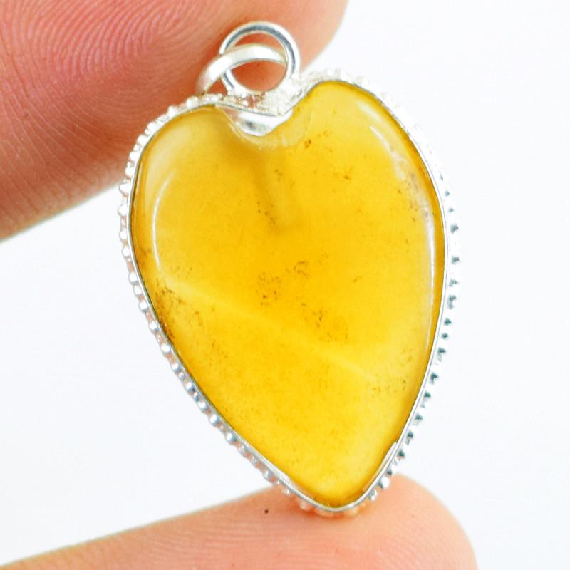 Genuine 4.00 Gms Onyx Heart Pendant