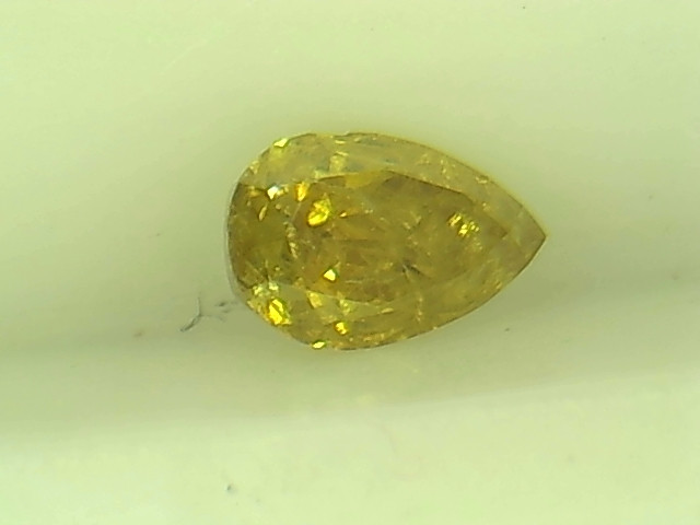 0.30ct Fancy Intense Brown Yellow  Diamond , 100% Natural Untreated