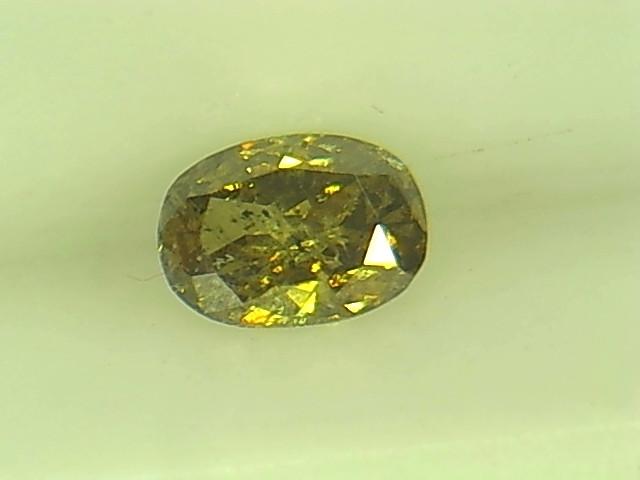 0.185ct Fancy Deep Green Brown  Diamond , 100% Natural Untreated