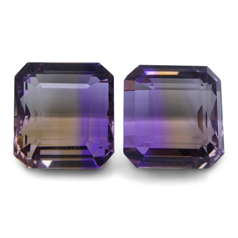 49.73 ct Pair Emerald Cut Ametrine