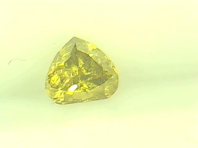 0.25ct Fancy Intense grayish Yellow Green  Diamond , 100% Natural Untreated