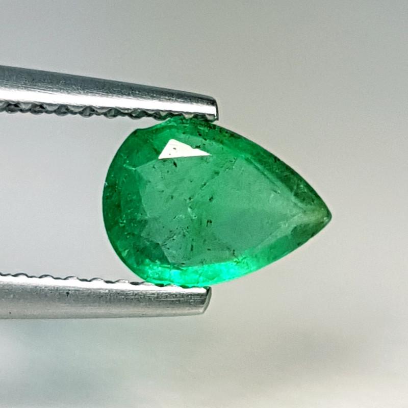 "0.83 ct ""Top Quality Gem"" Pear Cut Natural Emerald"