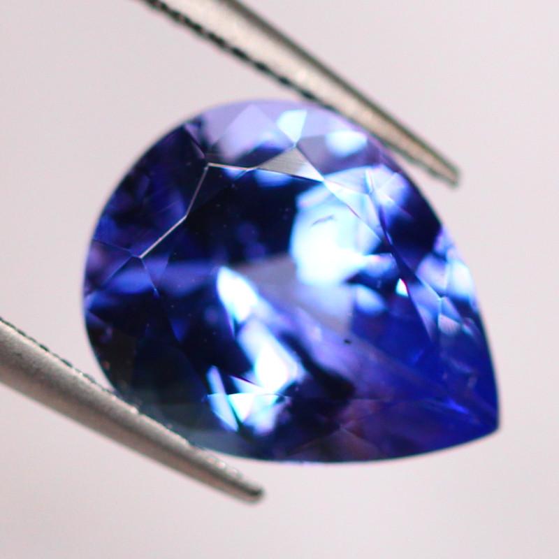 IGI Certified 2.08Ct Violet Blue Tanzanite Pear Cut Lot LZB404