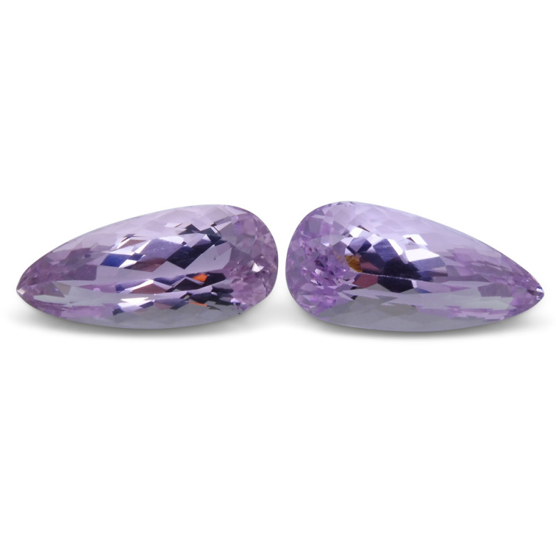 27.54 ct Pair Pear Kunzite
